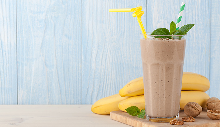 Smoothie de banana y nueces - Nutriguía